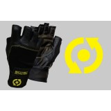 SCITEC NUTRITION LEATHER YELLOW STYLE GLOVES - Black